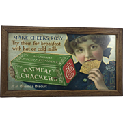 National Biscuit Company Cardboard Sign