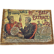 Vintage Williams Root Beer Extract Box - Rare - c. 1890's