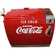 Coca-Cola Westinghouse WE-6 Cooler with Porcelain Water Fountain Addition