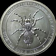 SOLD 2015 Australia 1 oz .999 Fine Silver Funnel-Web Spider
