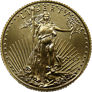 SALE PENDING 2015 American Gold Eagle 1/10 oz (One Tenth Troy Ounce) $5 Dollar ...