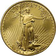 2005 American Gold Eagle 1 oz (One Troy Ounce) $50 Dollar Coin