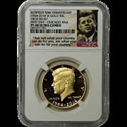 2014-W 3/4 oz Gold Kennedy 1/2 Dollar PR-68 NGC