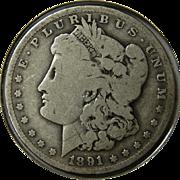 1891-O Morgan Silver Dollar Coin