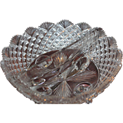 Brilliant Cut Strawberry Diamond & Fan Footed Divided Dish ABP