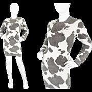 1980s Early Moschino Wool Sweater Dress Cheap & Chic 80s Jumper Dress Italian Designer