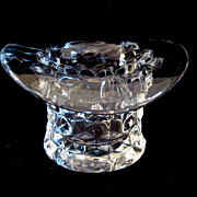 SOLD Elegant Fostoria American Glass Whimsy Hat Toothpick Holder