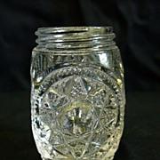 SOLD George Duncan's Sons & Co. Starred Loop Glass Shaker 1899 EAPG
