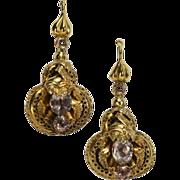 SALE Fine Antique Victorian Gold Amethyst Earrings