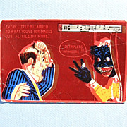 "Comic Black Americana Postcard c. 1907 ""Every Little Bit Added To What You've Got..."""
