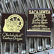 Vintage Box 50 Match Books Sacajawea Hotel La Grande Oregon
