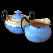 Vintage Czechoslovakia Phoenix China Lustreware Creamer & Sugar Bowl