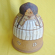 1980s Pottery Cookie Jar Cook with Braids