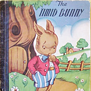 SALE The Timid Bunny Rare 1st Edition 1946 Children's Classic