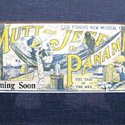Rare Bud Fisher Mutt & Jeff in Panama Advertising Blotter