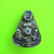 Tiny Metal Smiling Buddha Icon Fetish Charm