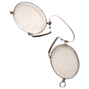 Victorian Gold-Plated Pince Nez Spectacles with Case