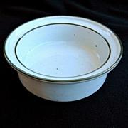Denmark Dansk Green Mist Rim Soup Bowl