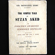 """Antique Naughty Erotica """"The Simple Tale of Suzan Aked"""""""