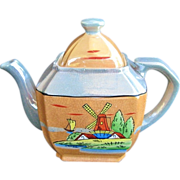 1940s Lusterware Windmill Design Teapot Made in Japan