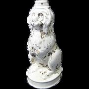 SALE 1800s Ceramic Sheepdog Figural English Bitters Bottle