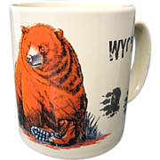Funny Wyoming Mug Man Meets Bear / Bear Eats Man