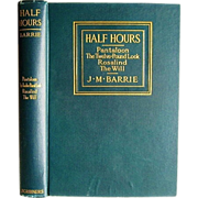 1914 First Edition Half Hours by J. M. Barrie