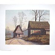SALE Signed Numbered Pepsi Print Jim Harrison Limited Edition