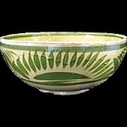 Large Rustic Tlaquepaque Mexico Pottery Bowl