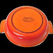 Vintage Belgium Descoware Flame Orange/Red Baking Individual Baking Dish