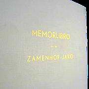 Memorlibro -- 1960 Book by L. L. Zamenhof on Esperanto