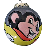 SOLD Ceramic Mighty Mouse Christmas Tree Ornament by Artist Miriam Misenko