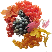 Four Vintage Clusters of Artificial Grapes