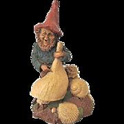 Signed Tom Clark 1984 Johann Gnome w. Sea Shells Retired Cairn Studio