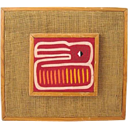 Authentic Mola Folk Art Textile from Cuna Indians of Panama