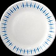 "SALE Nest Stone Marcrest Diamond Carousel Round Platter 11 1/2"" c. 1960"