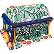 SALE Talavera Pottery Trinket / Dresser Box Puebla, Mexico J.M.B.