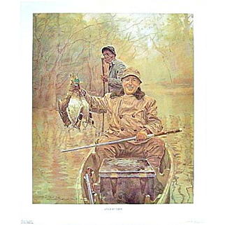 """SALE """"Duck Hunter"""" -- Signed Numbered Michael Charles Taylor Print"""