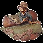 Tom Clark Walt the Fisherman Gnome Cairn Studio Retired 1985