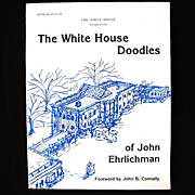 SALE Signed John Ehrlichman The White House Doodles Watergate