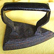 1800s Cast Iron #4 (4 lb) Flat Iron / Sad Iron