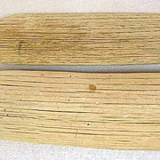 "Two Primitive Wooden Candy Confectionery Paddles 22"" & 18"""