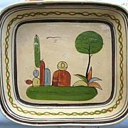 Large Rectangular Mexican Pottery Dish Tlaquepaque