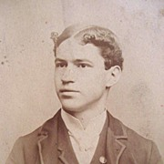 1890s World Portrait Studio Photo of Handsome Young Man in New York's Bowery