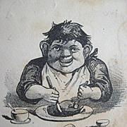 Bufford of Boston Comic Yum Yum Trade Card Circa 1900