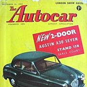 British Auto Magazine The Autocar 16 October 1953 Austin A30 Seven