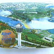 Niagara Falls Seagram Tower Riley's Toffee Tin Halifax England