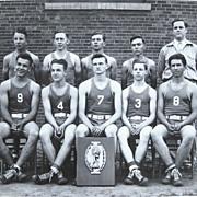 1950s Oregon High School Basketball Team Photo Imbler OR