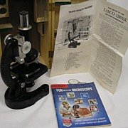 Collectable Vintage TascoDeluxe 1200 XK High Quality Microscope