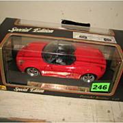 Maisto Special Edition, Porsche Boxster Convertible, 1/18 scale, NIB.